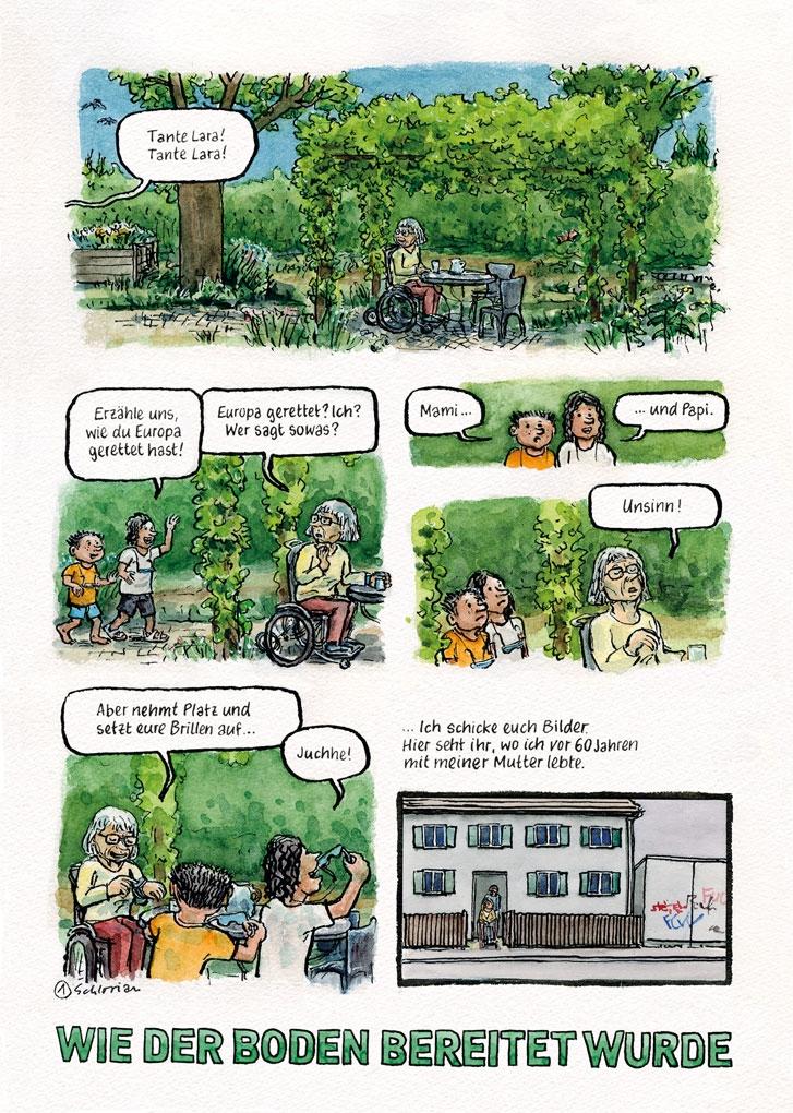 Europa-Comic Seite 1