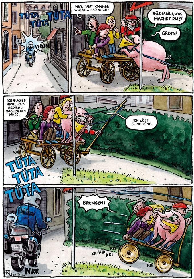 """""""Schwein gehabt!"""" S.15"""