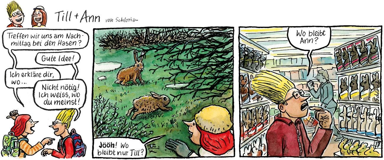 Till und Ann bei den Hasen