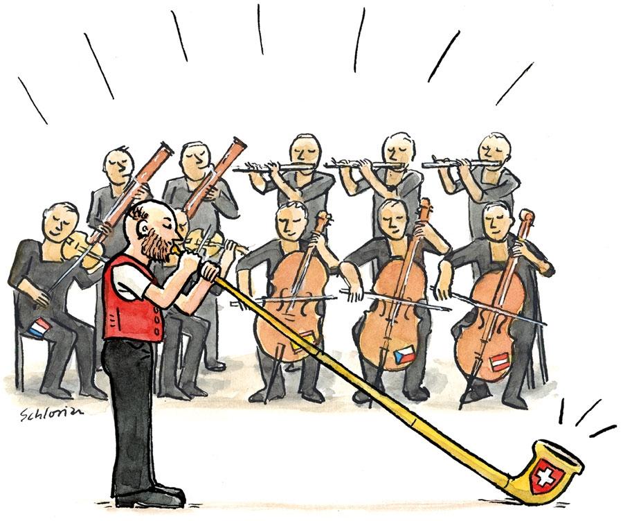 Europa zusammen im Konzert