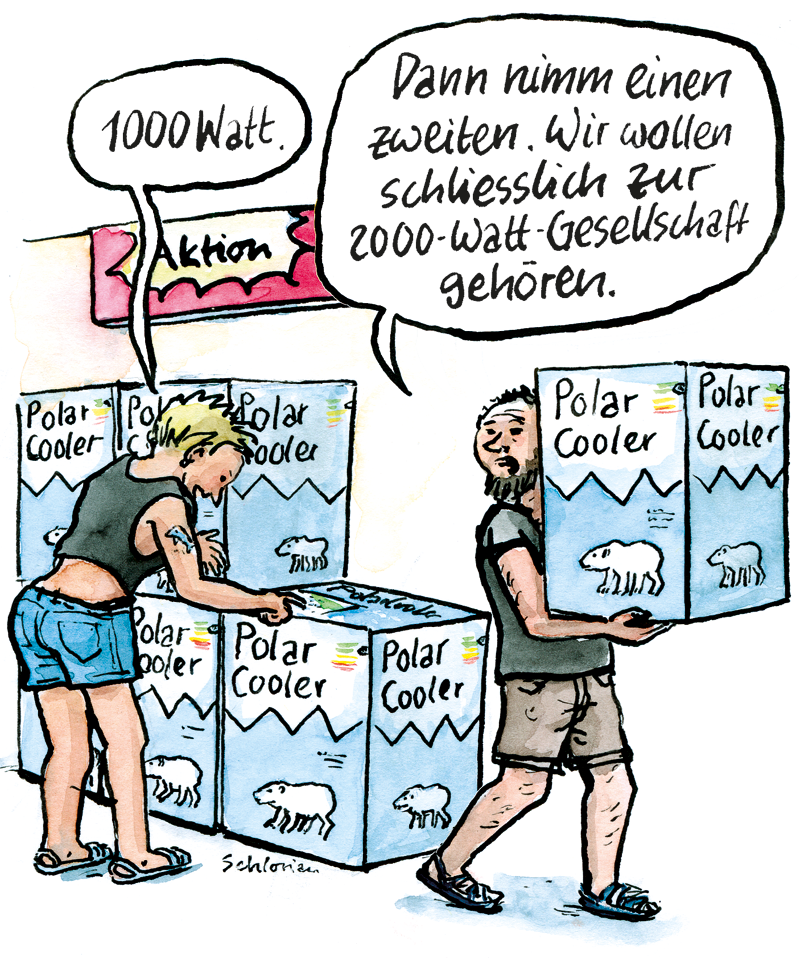1000-Watt-Klimaanlagen in der 2000-Watt-Gesellschaft