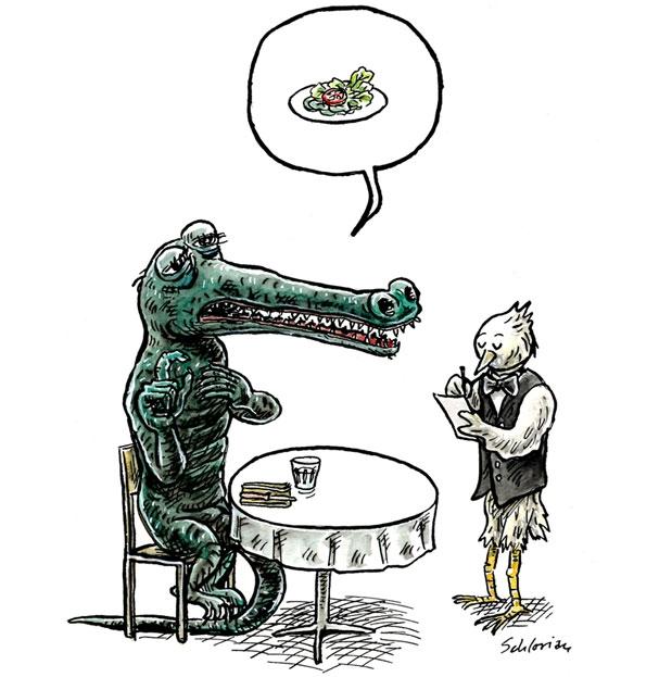 Krokodil Reinzeichnung