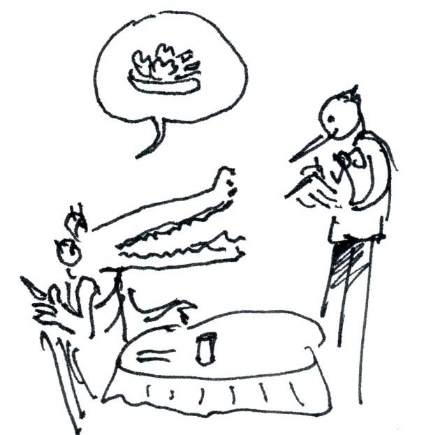 Krokodil Skizze