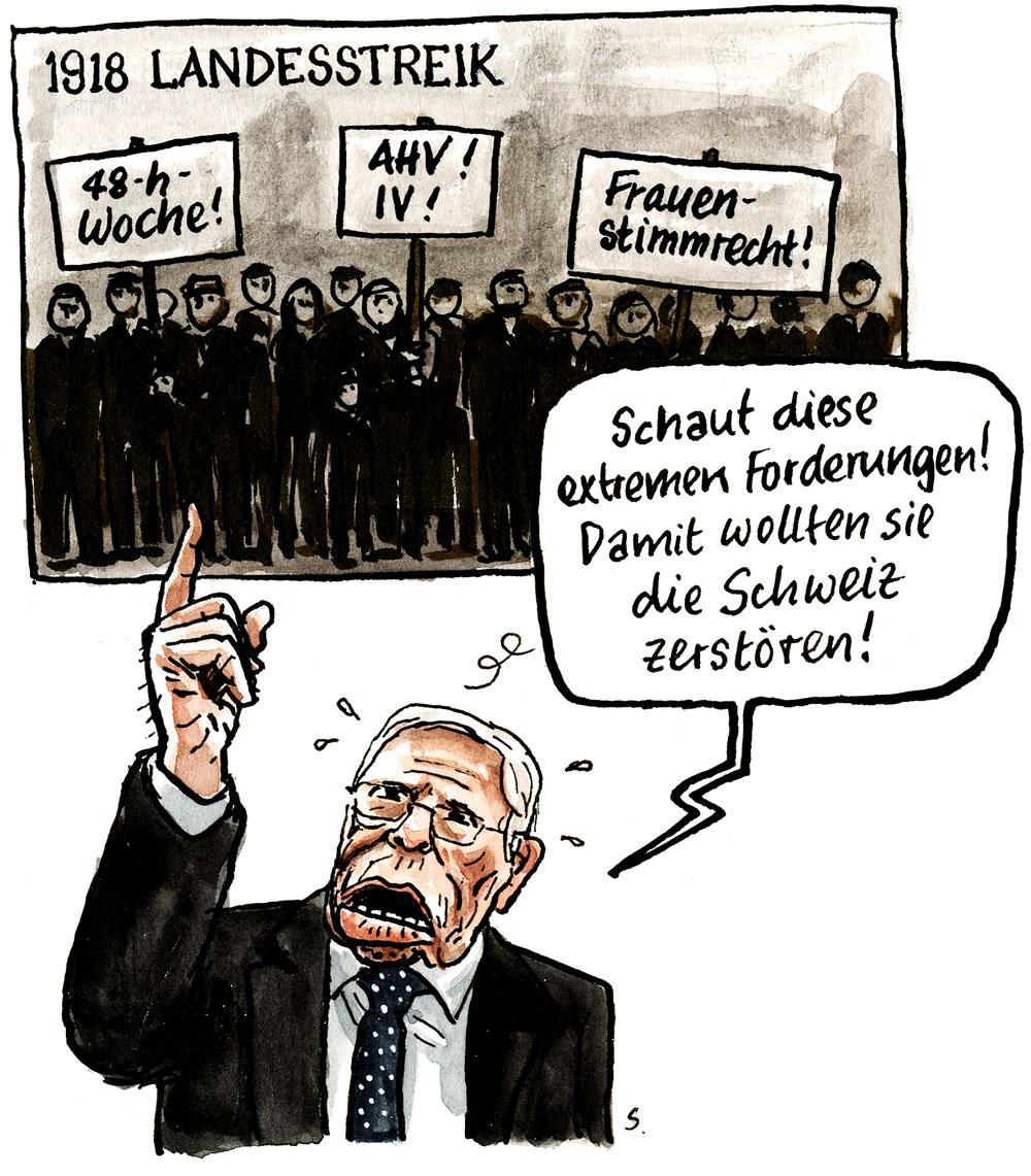Blocher und der Landesstreik 1918