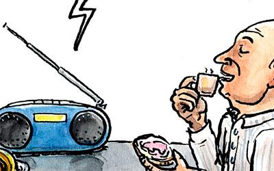 Radio am Morgentisch