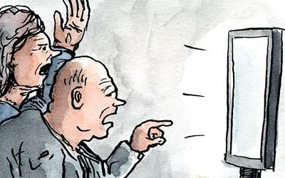 Europawahl vor dem Fernseher