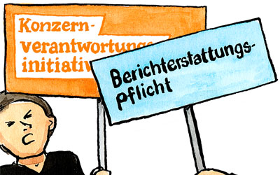 Cartoon zur Konzernverantwortungsinitiative