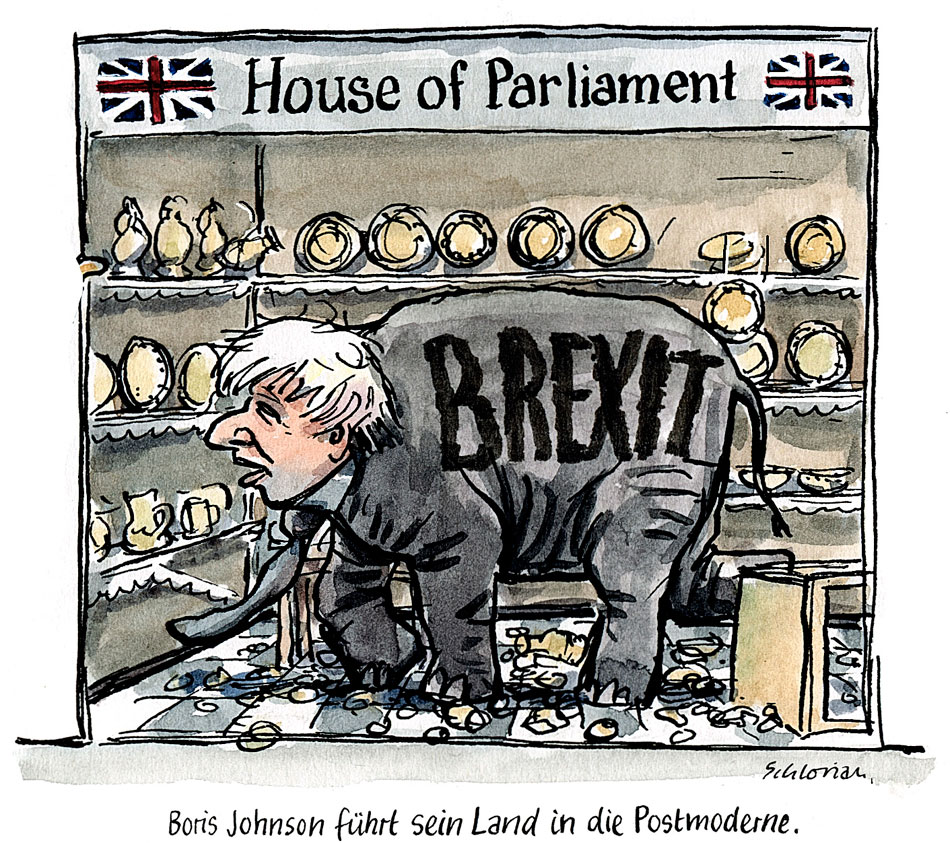 Cartoon Boris Johnson