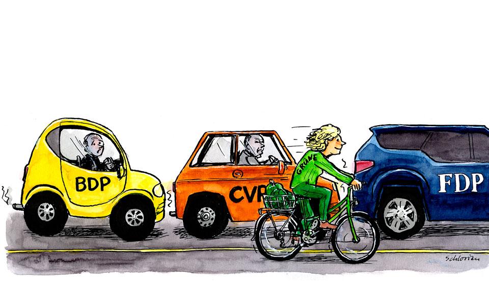 Cartoon: Grün überholt