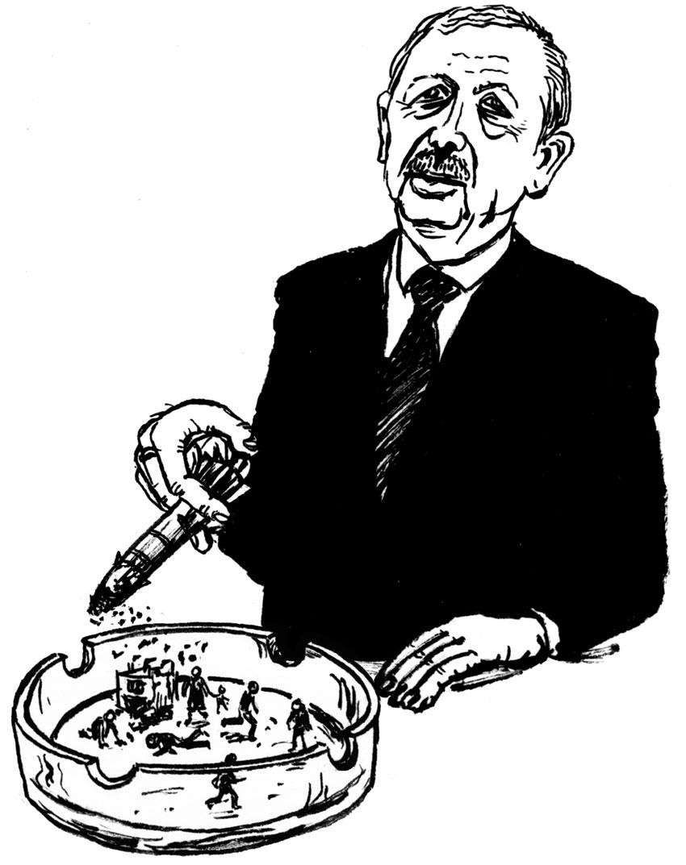 Karikatur Recep Tayyip Erdoğan
