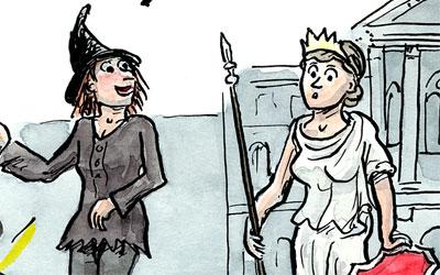 Hexe und Helvetia