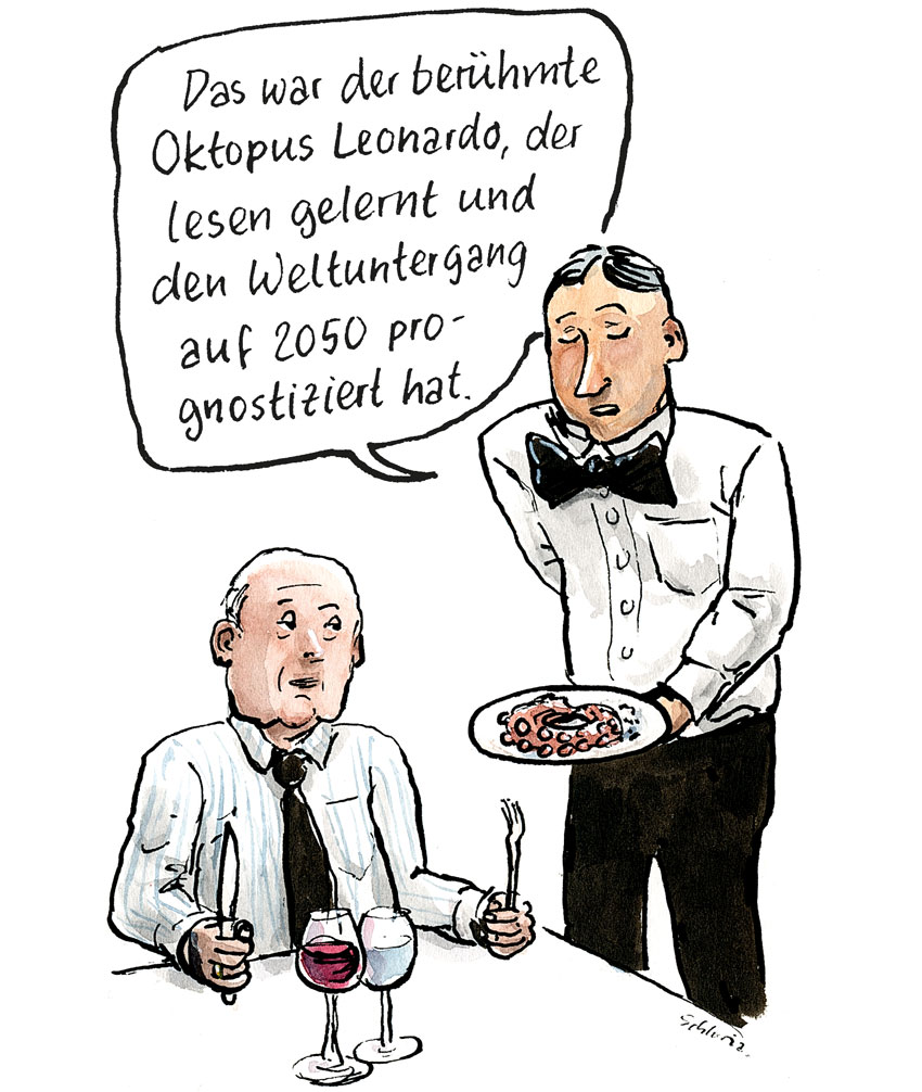 Cartoon Restaurant: Das war der berühmte Oktopus Leonardo …