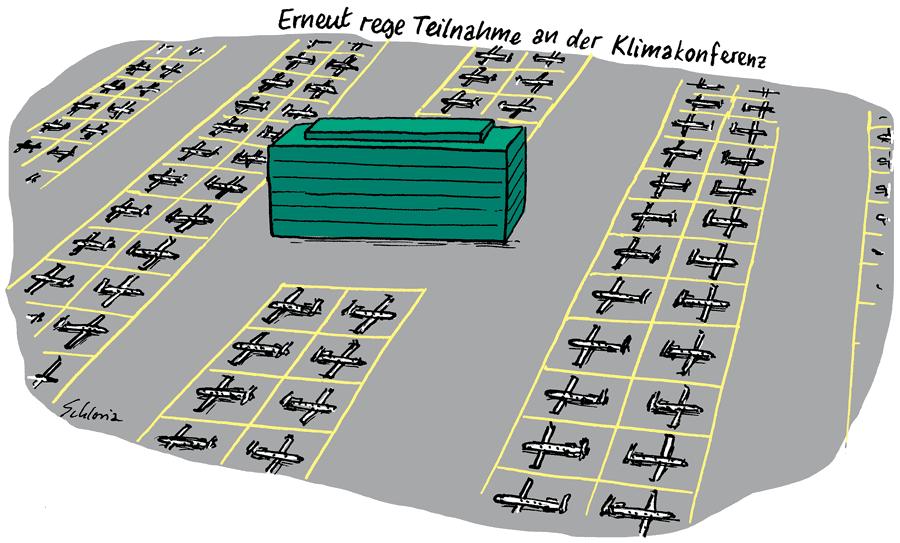 Cartoon: Erneut rege Teilnahme an der Klimakonferenz