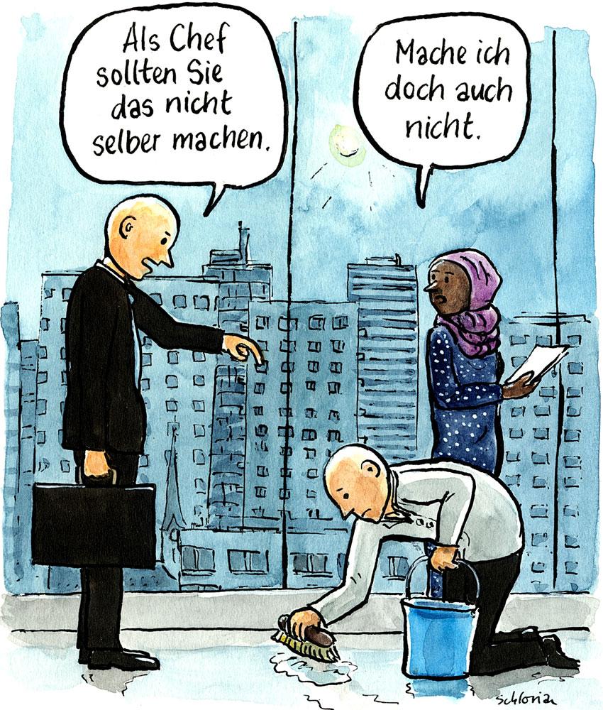 Cartoon: Als Chef sollten Sie das nicht selber machen.