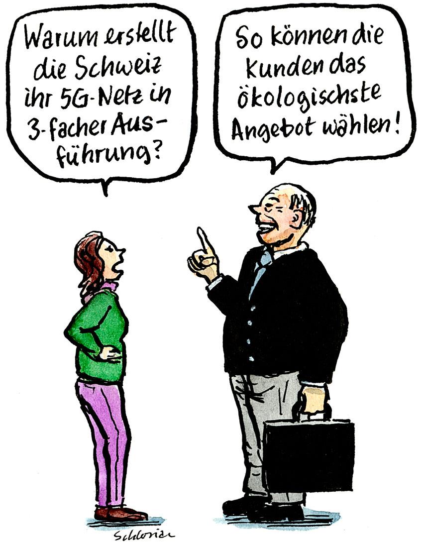 Cartoon 5G-Netz