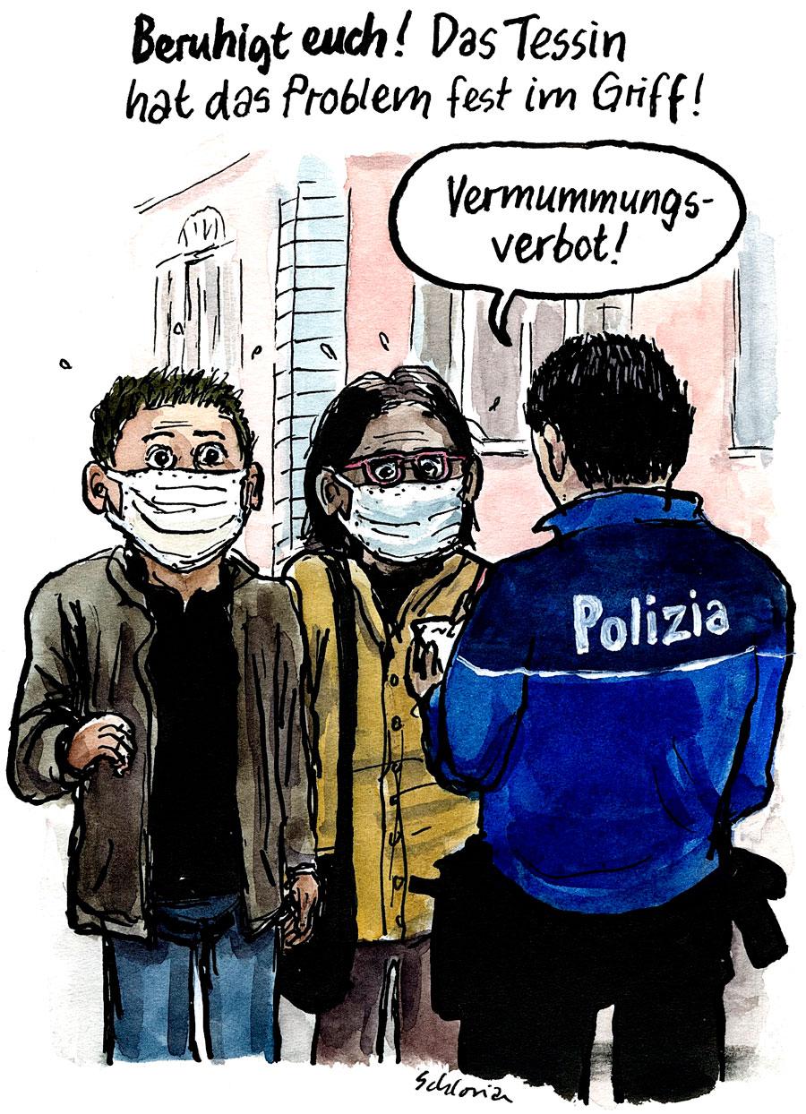 Cartoon: Beruhigt euch!