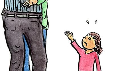 Cartoon Grossmutter