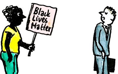 Cartoon Black Lives Matter