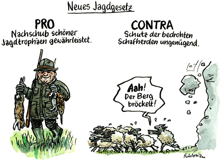 Pro und Contra zum neuen Jagdgesetz
