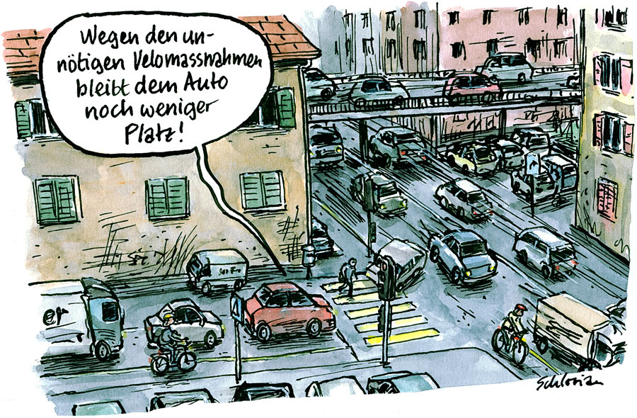Cartoon Autoverkehr