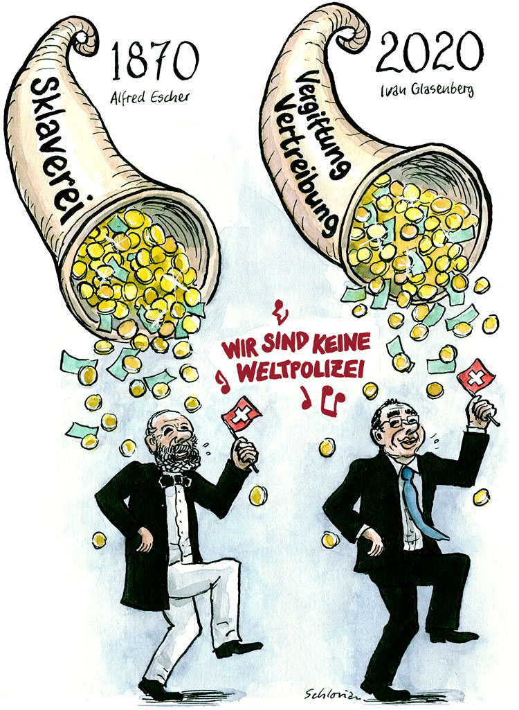 Cartoon Alfred Escher, Ivan Glasenberg