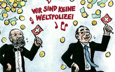 Cartoon: Wir sind keine Weltpolizei