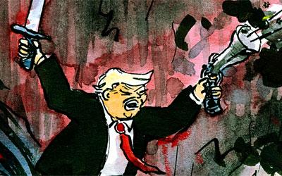 Cartoon Donald Trump