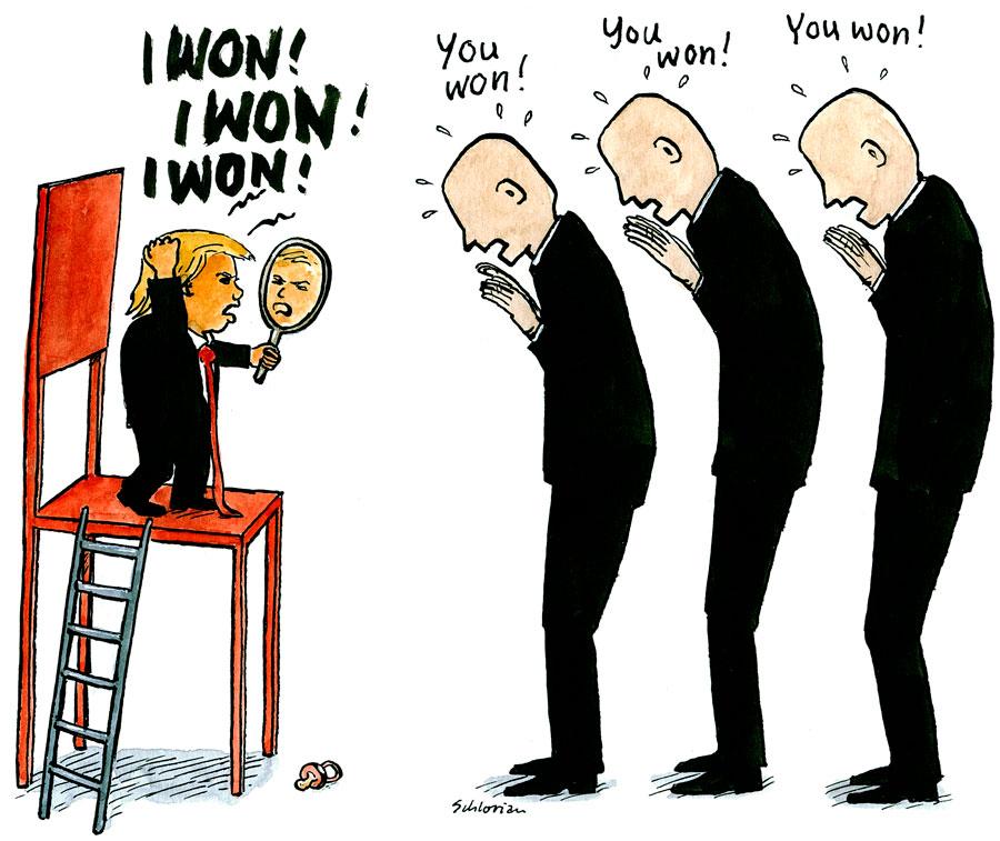 Klein-Donald sagt, er habe gewonnen
