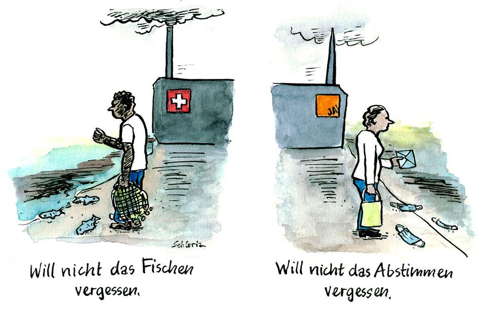 Cartoon Nicht vergessen!
