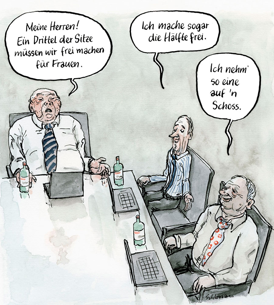 Cartoon Frauenanteil