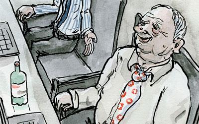 Cartoon Geschäftsleitung