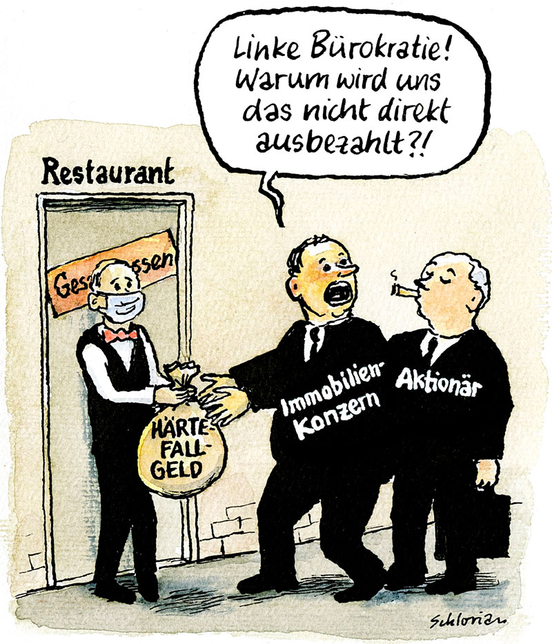 Cartoon Immobilienkonzern