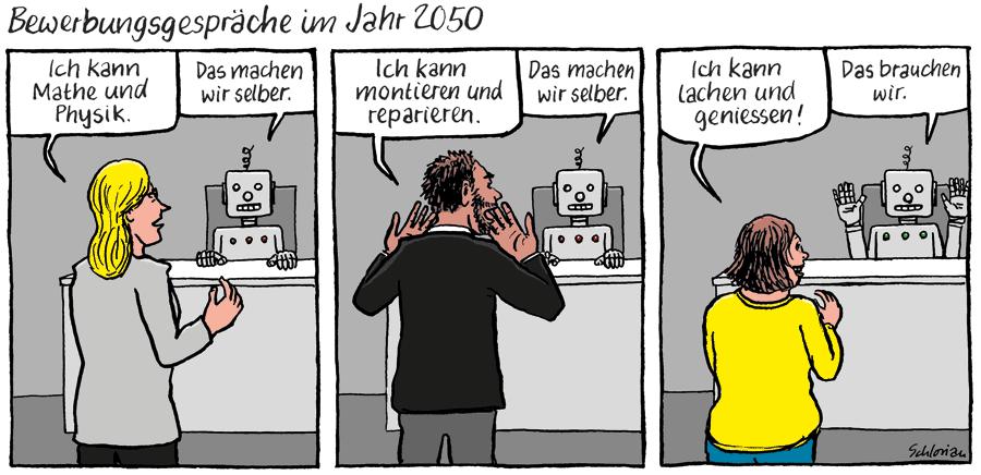Bewerbungsgespräch im Jahr 2050