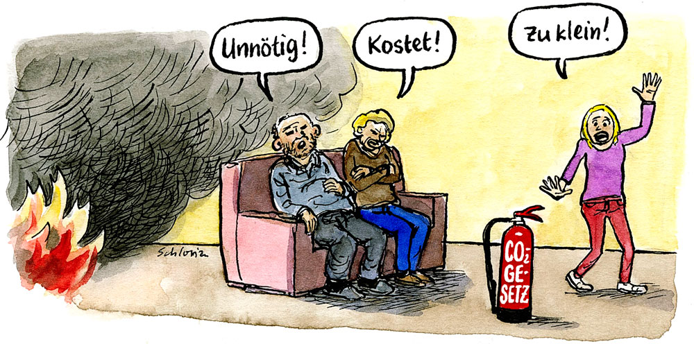 Cartoon CO2-Gesetz
