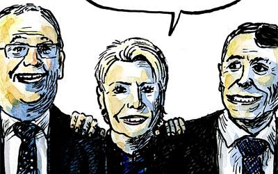 Karin Keller-Sutter mit ihren zwei Jungs