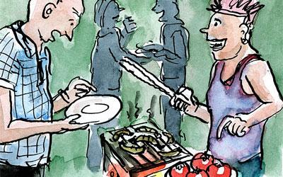Cartoon Grill