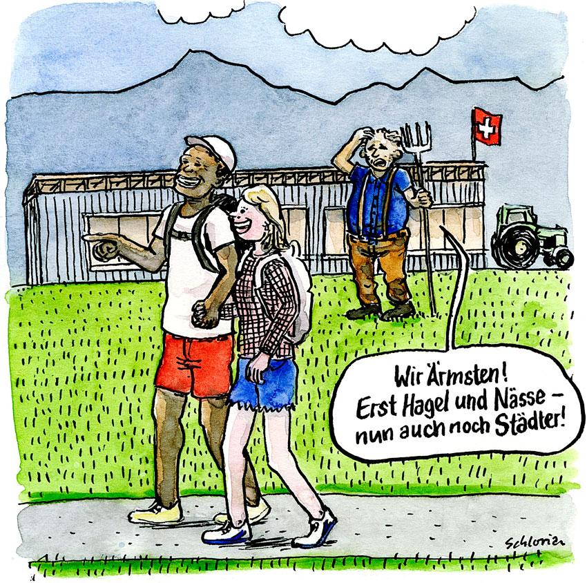 Cartoon die armen Bauern!