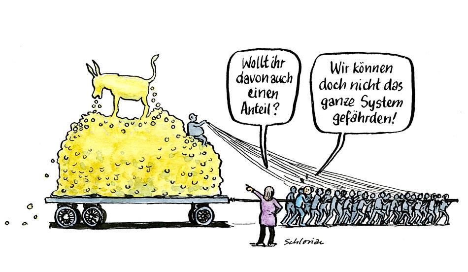 Cartoon Reiches Prozent
