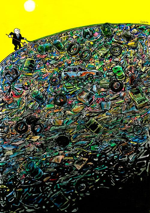 Mensch, sein Müll und die Erde
